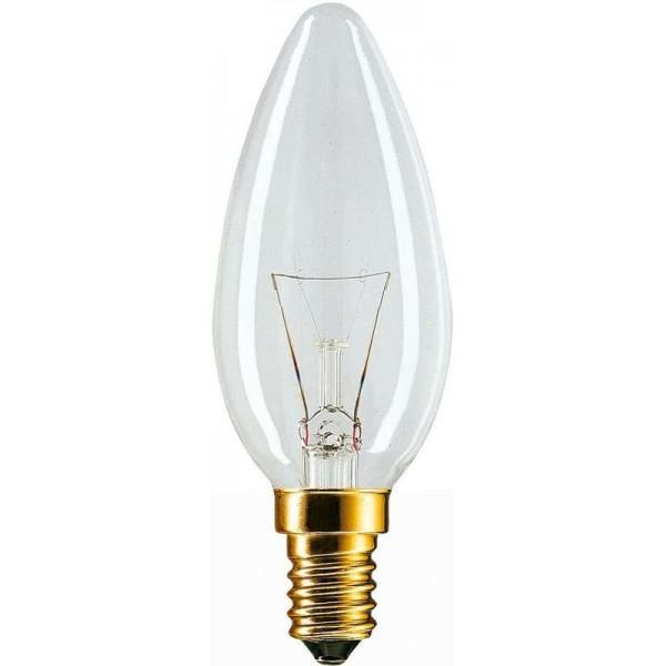 Лампа накаливания Stan 40Вт E14 230В B35 CL 1CT/10X10 Philips 926000006814