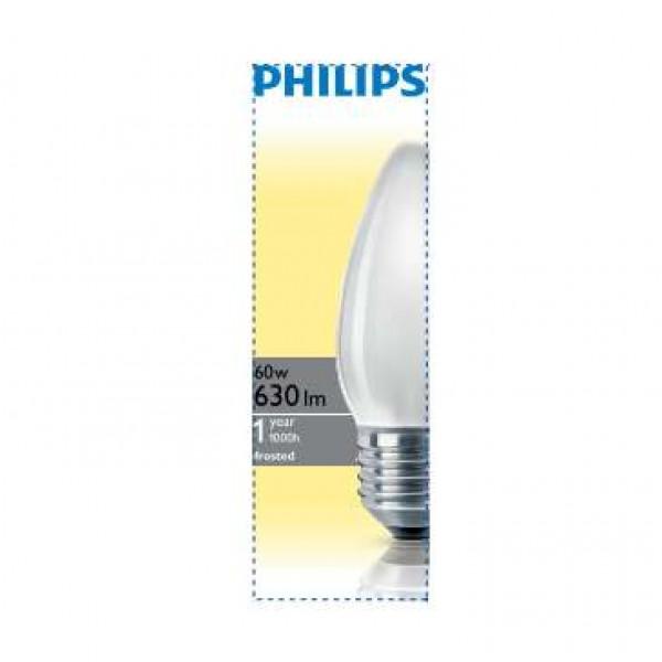 Лампа накаливания Stan 60Вт E27 230В B35 FR 1CT/10X10F Philips 921501644214