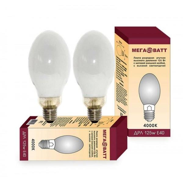 Лампа газоразрядная ртутная ДРЛ 125 E27 (25) МЕГАВАТТ 03007
