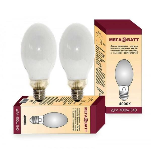 Лампа газоразрядная ртутная ДРЛ 400 E40 (15) МЕГАВАТТ 03021