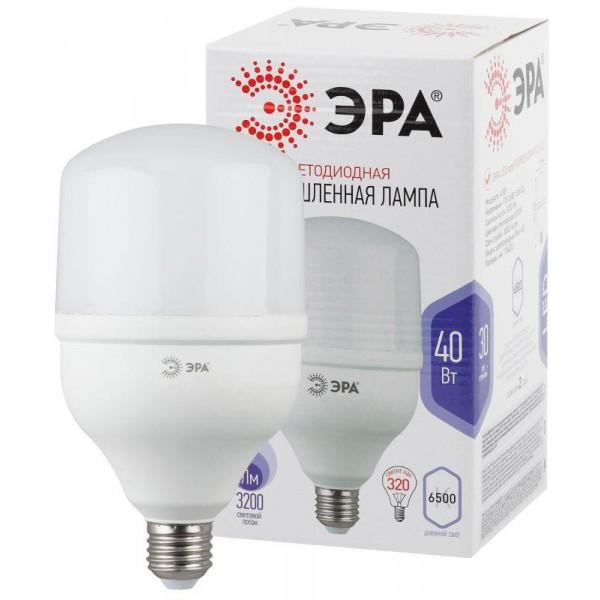 Лампа светодиодная высокомощная POWER 40W-6500-E27 3200лм ЭРА Б0027006