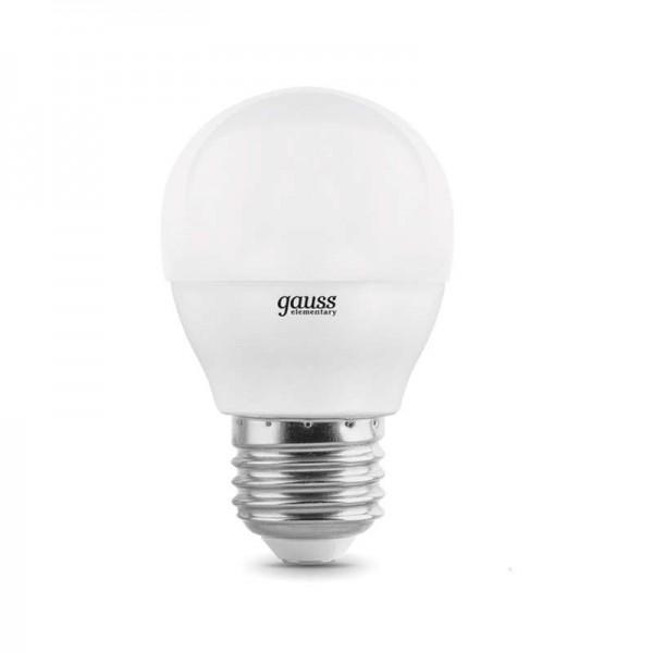 Лампа светодиодная Elementary 10Вт шар 4100К E27 920лм Gauss 53220