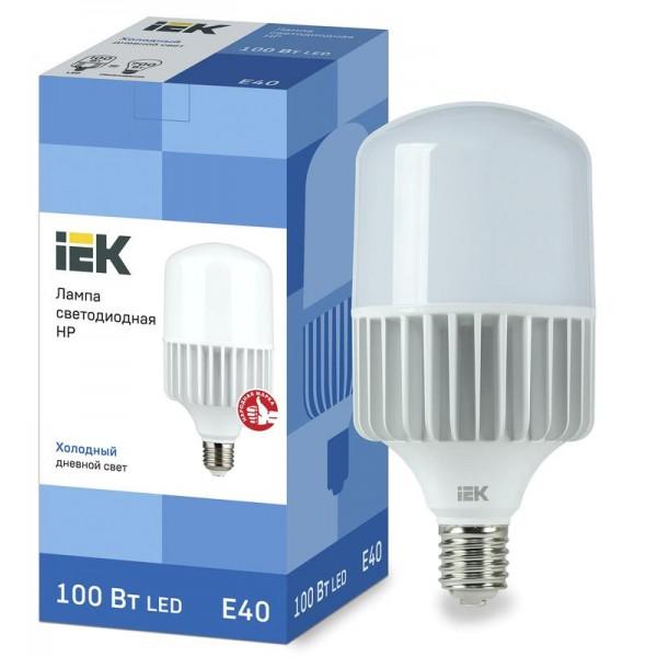 Лампа светодиодная HP 100Вт 230В 6500К E40 IEK LLE-HP-100-230-65-E40