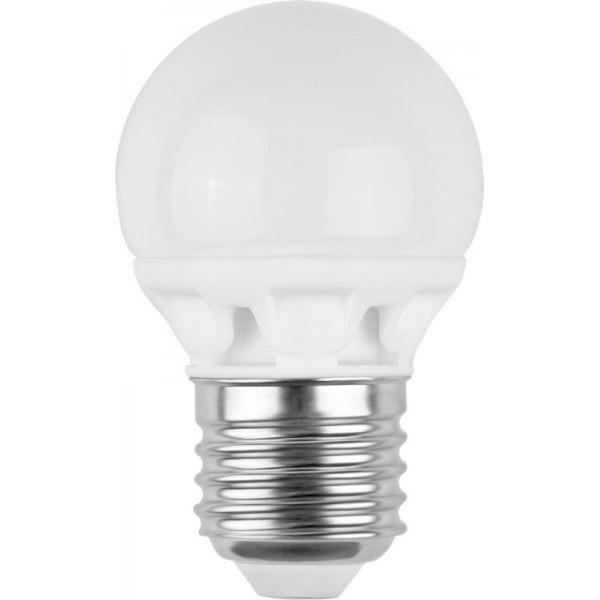 Лампа светодиодная LED3-G45/845/E27 3Вт шар 4500К бел. E27 260лм 220-240В Camelion 11376