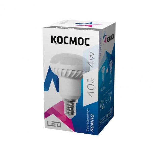 Лампа светодиодная R39 4Вт 220В E14 4500К Космос Lksm_LED4wR39E1445