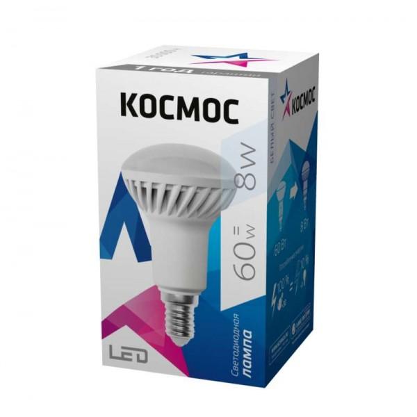 Лампа светодиодная R50 8Вт 220В E14 4500К Космос Lksm_LED8wR50E1445