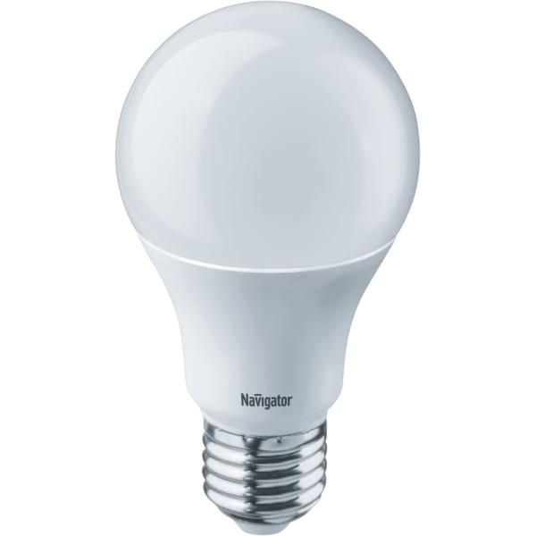 Лампа светодиодная 94 387 NLL-A60-10-230-2.7K-E27 10Вт грушевидная 2700К тепл. бел. E27 750лм 170-260В Navigator 94387