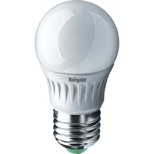 Лампа светодиодная 94 477 NLL-P-G45-5-230-2.7K-E27 5Вт шар 2700К тепл. бел. E27 330лм 220-240В Navigator 94477