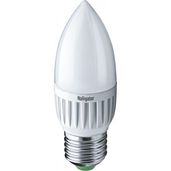 Лампа светодиодная 94 481 NLL-P-C37-5-230-2.7K-E27-FR 5Вт свеча 2700К тепл. бел. E27 330лм 220-240В Navigator 94481