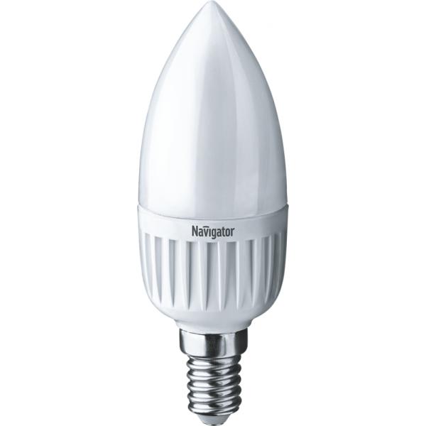 Лампа светодиодная 94 482 NLL-P-C37-5-230-4K-E14-FR 5Вт свеча 4000К бел. E14 370лм 220-240В Navigator 94482