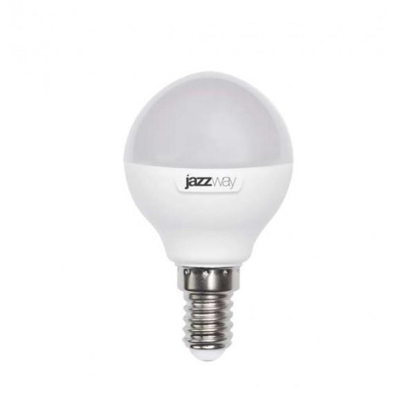 Лампа светодиодная PLED-SP-G45 7Вт шар 3000К тепл. бел. E14 540лм 230В JazzWay 1027856-2