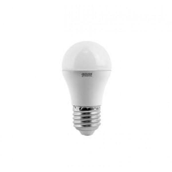 Лампа светодиодная Elementary 6Вт шар 3000К тепл. бел. E27 420лм 180-240В Gauss 53216