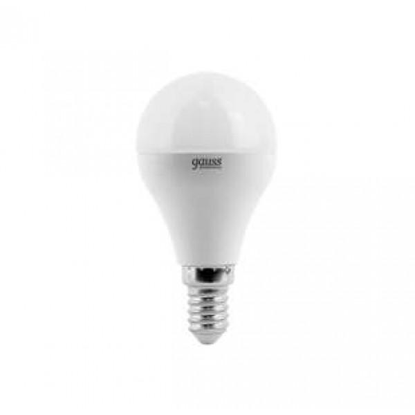 Лампа светодиодная Elementary 6Вт шар 4100К бел. E14 420лм 180-240В Gauss 53126