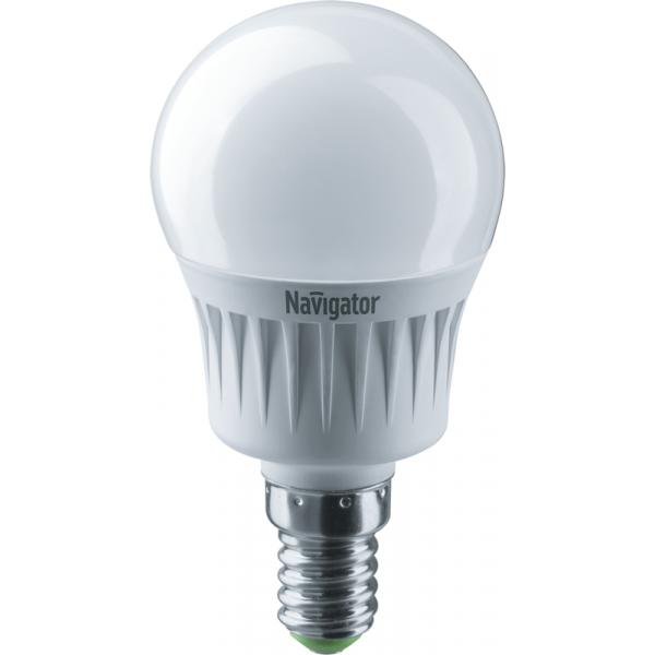 Лампа светодиодная 94 468 NLL-G45-7-230-4K-E14 7Вт шар 4000К бел. E14 560лм 176-264В Navigator 94468