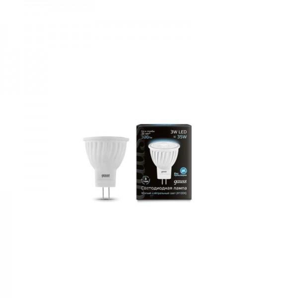 Лампа светодиодная Black D35х45 SMD MR11 3Вт 4100К бел. GU4 280лм 150-265В FROST Gauss 132517203