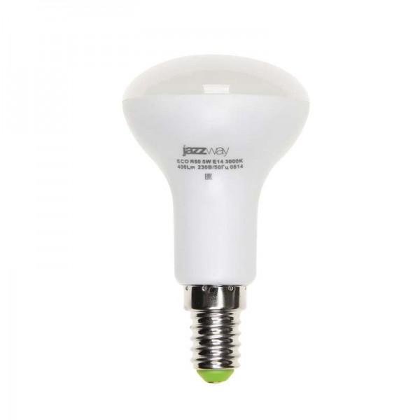 Лампа светодиодная PLED-ECO-R50 5Вт 4000К бел. E14 400лм 220-240В JazzWay 1037046A