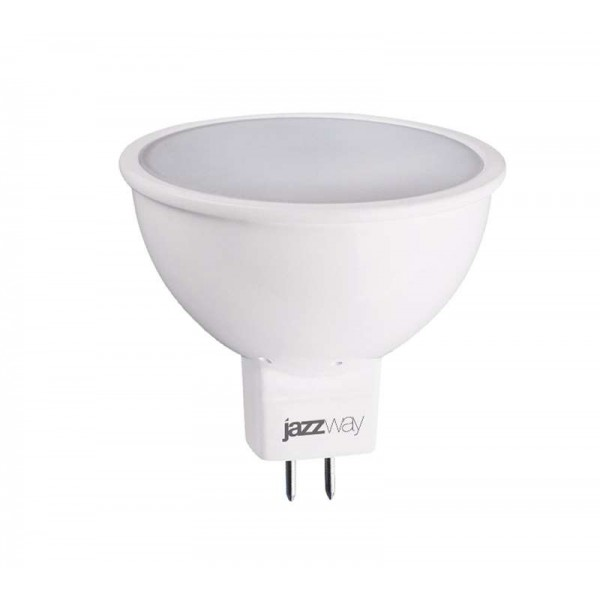Лампа светодиодная PLED-ECO-JCDR 5Вт 3000К тепл. бел. GU5.3 400лм 220-240В JazzWay 1037077A