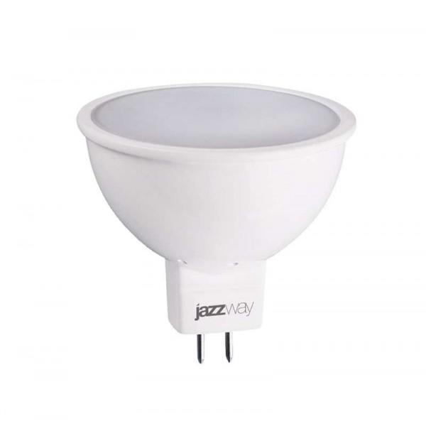 Лампа светодиодная PLED-ECO-JCDR 5Вт 4000К бел. GU5.3 400лм 220-240В JazzWay 1037107A