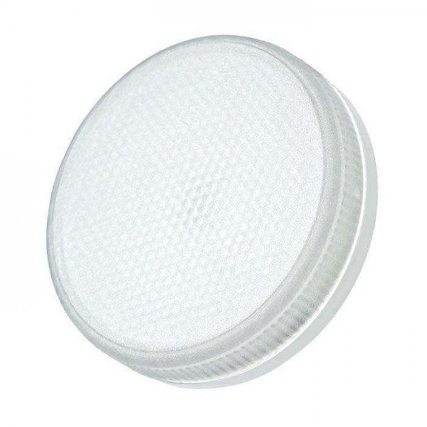 Лампа светодиодная PLED-ECO-GX53 6Вт таблетка 3000К frost тепл. бел. GX53 460лм 230В JazzWay 2851987