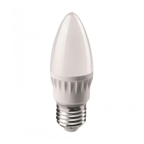 Лампа светодиодная 71 631 OLL-C37-6-230-4K-E27-FR 6Вт свеча 4000К бел. E27 470лм 176-264В ОНЛАЙТ 71631