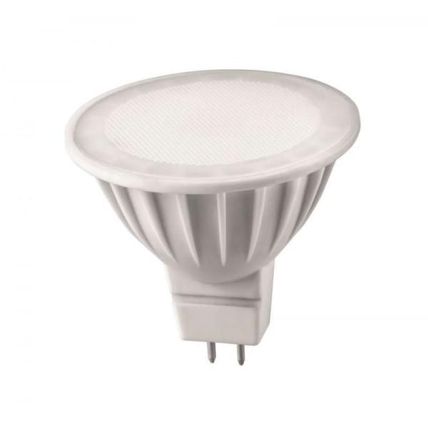 Лампа светодиодная 71 637 OLL-MR16-5-230-3K-GU5.3 5Вт 3000К тепл. бел. GU5.3 350лм 176-264В ОНЛАЙТ 71637