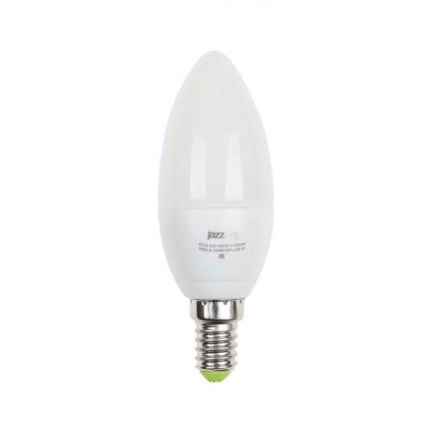 Лампа светодиодная PLED-ECO-C37 5Вт свеча 3000К тепл. бел. E27 400лм 230В JazzWay 2855312A