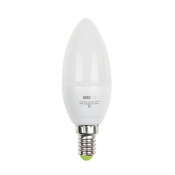 Лампа светодиодная PLED-ECO-C37 5Вт свеча 4000К бел. E27 400лм 230В JazzWay 2855329A