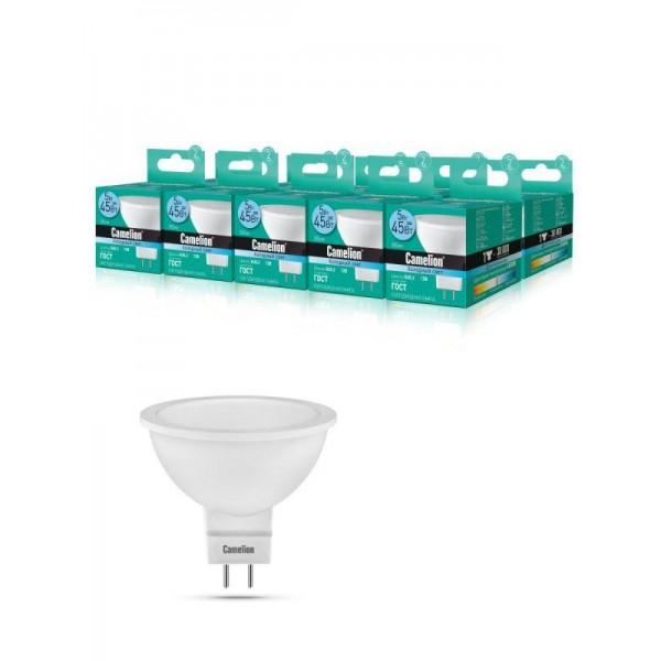 Лампа светодиодная LED5-MR16/845/GU5.3 5Вт 4500К бел. GU5.3 385лм 12В Camelion 12026