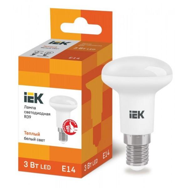 Лампа светодиодная ECO R39 3Вт 3000К тепл. бел. E14 270лм 230-240В IEK LLE-R39-3-230-30-E14