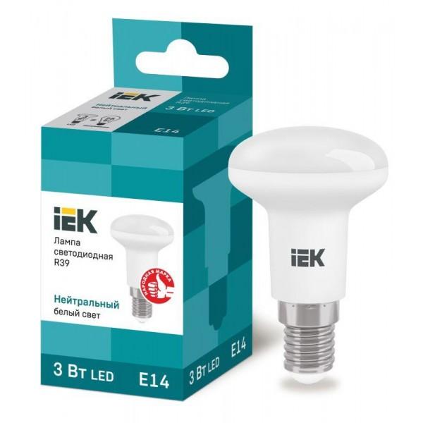 Лампа светодиодная ECO R39 3Вт 4000К бел. E14 270лм 230-240В IEK LLE-R39-3-230-40-E14