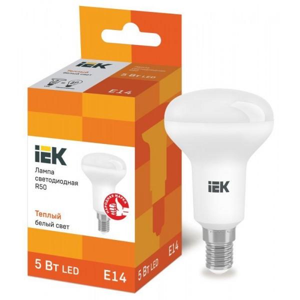 Лампа светодиодная ECO R50 5Вт 3000К тепл. бел. E14 450лм 230-240В IEK LLE-R50-5-230-30-E14