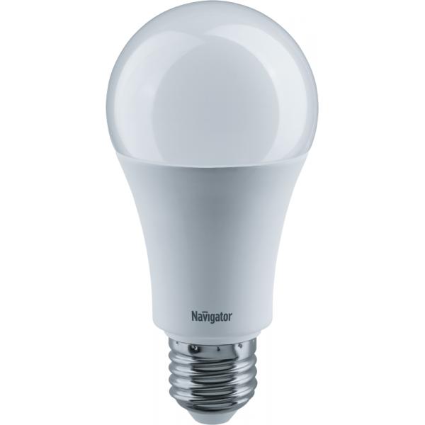 Лампа светодиодная 71 365 NLL-A60-15-230-4K-E27 15Вт грушевидная 4000К бел. E27 1200лм 176-264В Navigator 71365
