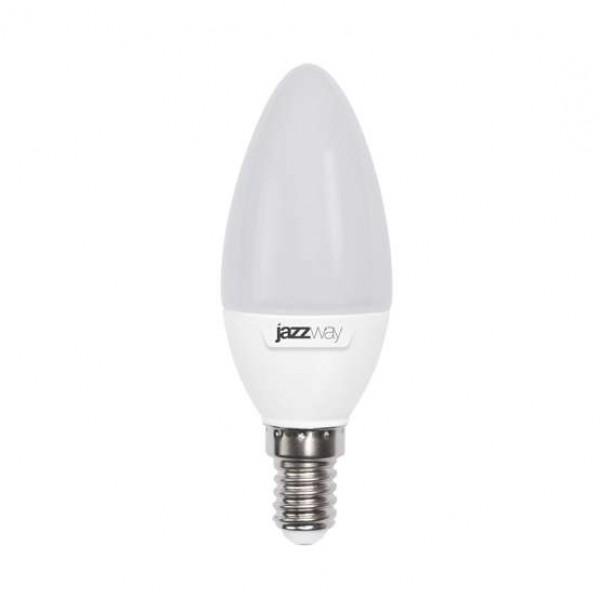 Лампа светодиодная PLED-SP C37 9Вт свеча 5000К холод. бел. E14 820лм 230В JazzWay 2859488A