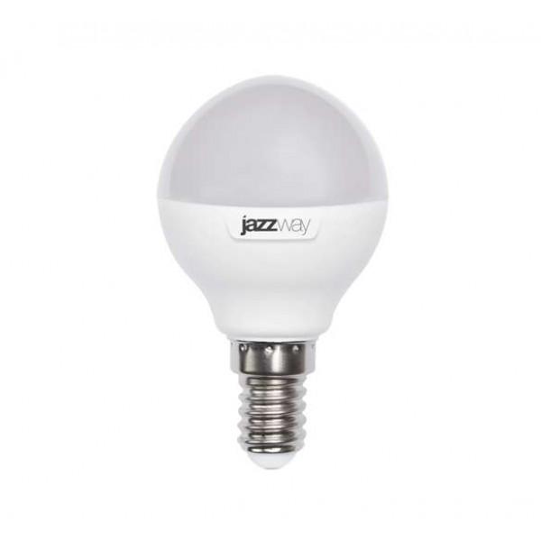 Лампа светодиодная PLED-SP G45 9Вт шар 3000К тепл. бел. E14 820лм 230В JazzWay 2859570A