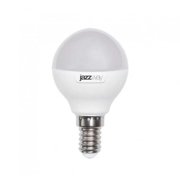 Лампа светодиодная PLED-SP G45 9Вт шар 5000К холод. бел. E14 820лм 230В JazzWay 2859600A