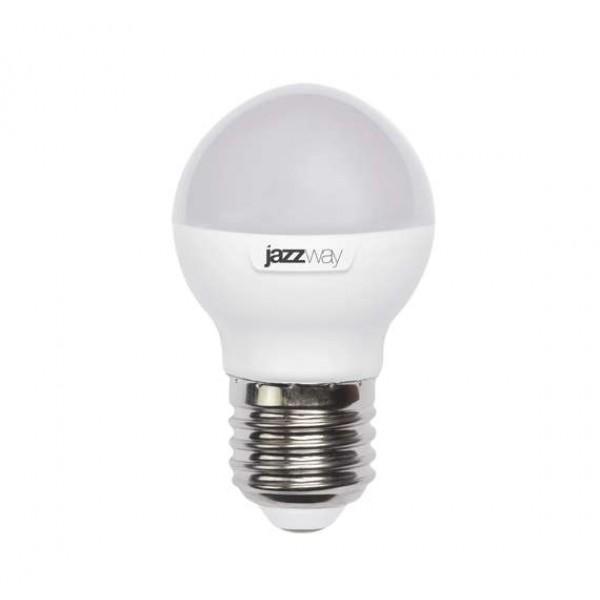 Лампа светодиодная PLED-SP G45 9Вт шар 3000К тепл. бел. E27 820лм 230В JazzWay 2859631A