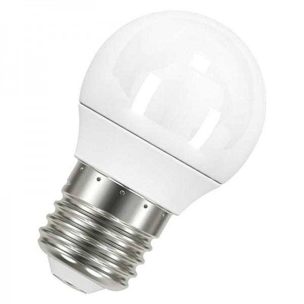 Лампа светодиодная LED STAR CLASSIC P 40 5.5W/827 5.5Вт шар 2700К тепл. бел. E27 470лм 220-240В матов. пласт. OSRAM 4052899971646