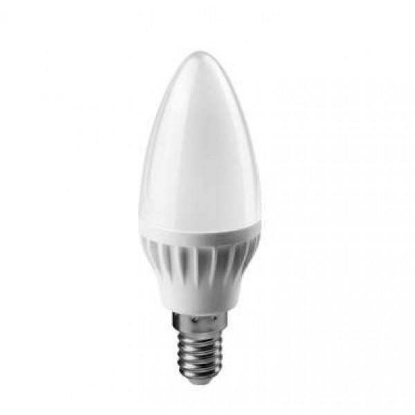 Лампа светодиодная 71 633 OLL-C37-8-230-4K-E14-FR 8Вт свеча 4000К бел. E14 600лм 176-264В ОНЛАЙТ 71633