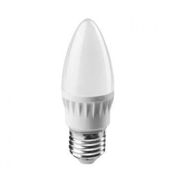 Лампа светодиодная 71 634 OLL-C37-8-230-2.7K-E27-FR 8Вт свеча 2700К тепл. бел. E27 560лм 176-264В ОНЛАЙТ 71634
