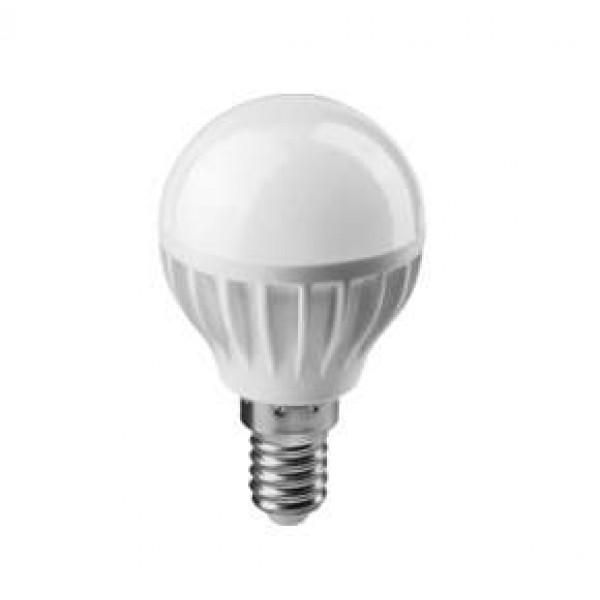 Лампа светодиодная 71 625 OLL-G45-8-230-4K-E14 8Вт шар 4000К E14 600лм 176-264В бел. ОНЛАЙТ 71625