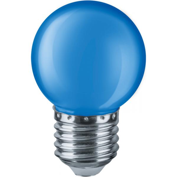 Лампа светодиодная 71 829 NLL-G45-1-230-B-E27 1Вт шар E27 220-240В син. Navigator 71829