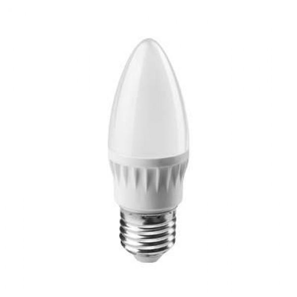 Лампа светодиодная 61 129 OLL-C37-6-230-6.5K-E27-FR 6Вт ОНЛАЙТ 61129