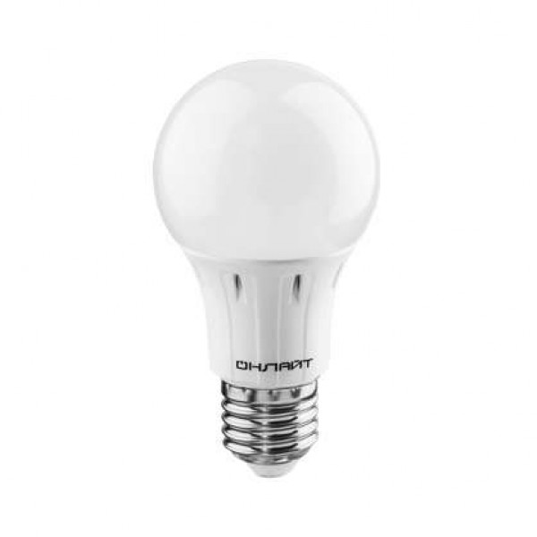 Лампа светодиодная 61 141 OLL-A60-12-230-6.5K-E27 грушевидная 12Вт ОНЛАЙТ 61141