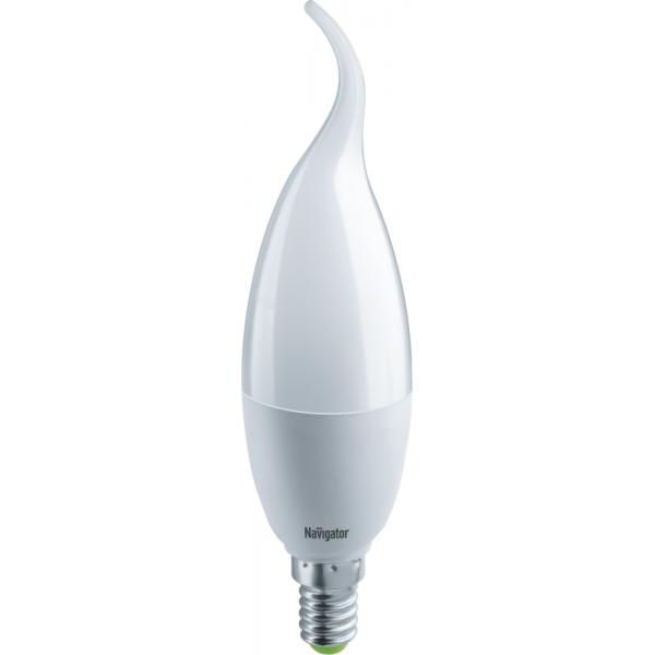 Лампа светодиодная 61 330 NLL-FC37-8.5-230-2.7К-E14-FR 8.5Вт свеча на ветру 2700К тепл. бел. E14 640лм 176-264В Navigator 61330