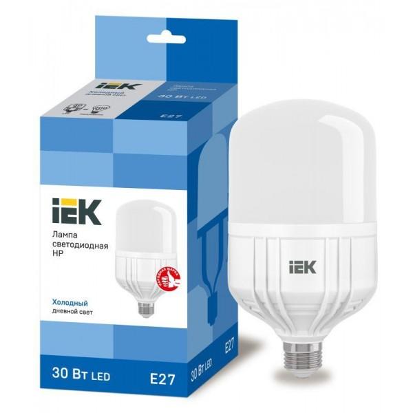Лампа светодиодная HP 30Вт 230В 6500К E27 IEK LLE-HP-30-230-65-E27