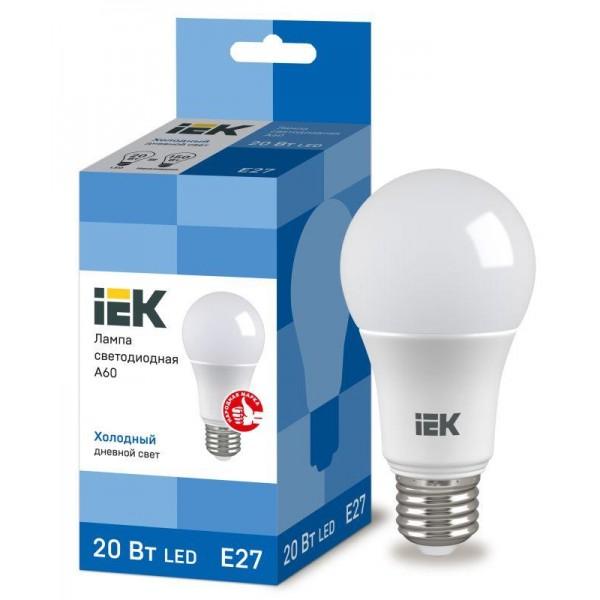 Лампа светодиодная ECO A60 20Вт грушевидная 230В 6500К E27 IEK LLE-A60-20-230-65-E27