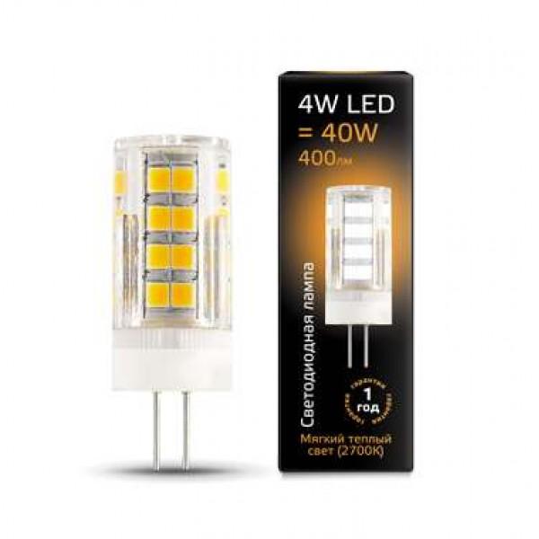 Лампа светодиодная Black G4 4Вт AC185-265В 2700К керамика Gauss 107307104