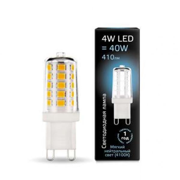 Лампа светодиодная Black G9 4Вт AC185-265В 4100К керамика Gauss 107309204
