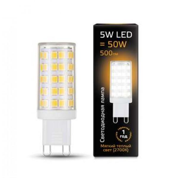Лампа светодиодная Black G9 5Вт AC185-265В 2700К керамика Gauss 107309105