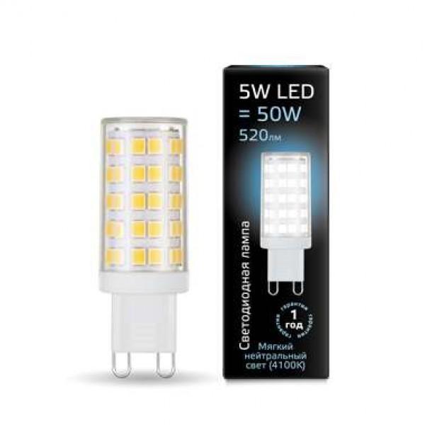 Лампа светодиодная Black G9 5Вт AC185-265В 4100К керамика Gauss 107309205